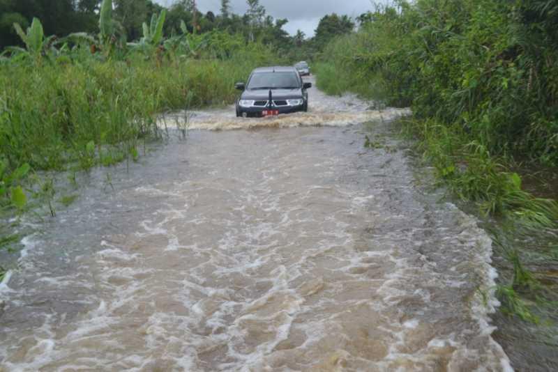 Banjir di Bawölato Belum Surut Warga Mesti Waspada
