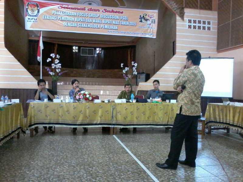 Evaluasi Pilkada 2015,KPUD Nias Minta Masukan dari Masyarakat