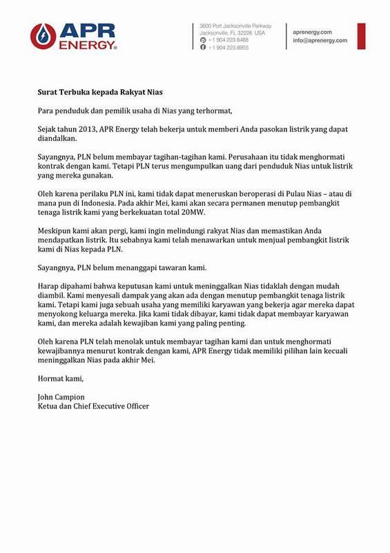 Surat Terbuka APR