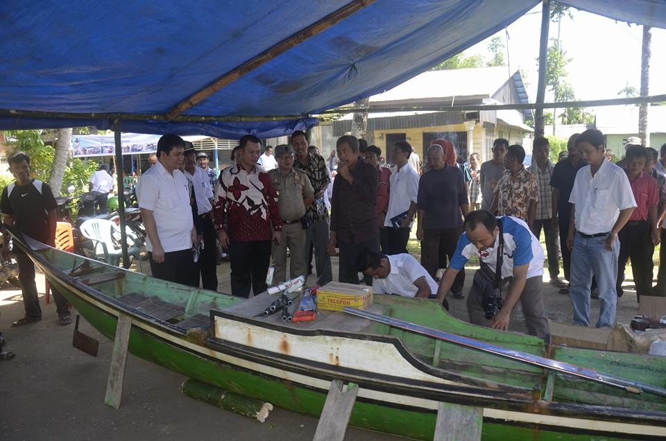 Wakil Wali Kota Gunungsitoli Sowa'a Laoli Membuka Kegiatan Pelatihan Pembuatan Kapal Fiberglass di Humene